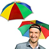"Windy City Novelties 13"" Rainbow Umbrella Hat for Adults and Kids"