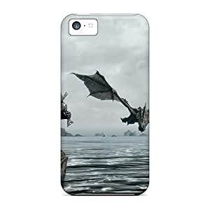 Shock Absorbent Hard Phone Cover For Iphone 5c (PrP13386ccOR) Allow Personal Design High Resolution Skyrim Series