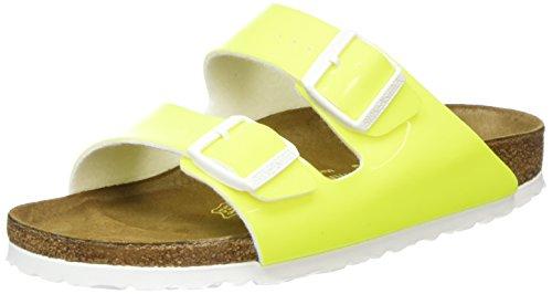 Birkenstock Arizona 57573 - Sandalias Mujer, Amarillo (Neon Yellow), 41