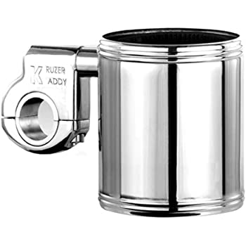 Motorcycle Cup Holder - Kruzer Kaddy Chrome Handlebar Mountable Cup Holder