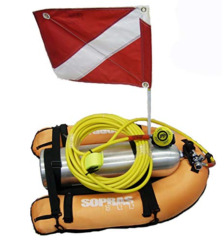 Sporasub Float Diver Kit - with Tank and 3 Separate bladders / 1 80cf aluminum dive cylinder / 1 50' Diving Hose / 1 DXDiver Regulator - 1st stage - 2nd stage / 1 Button Gauge / 1 Nylon tow belt .