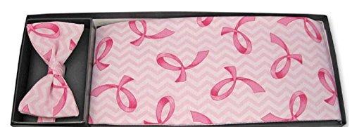 Formal Wear Mens Accessories (Breast Cancer Prevention Pink Tuxedo Cummerbund and Bowtie)