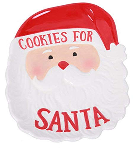 Adorable Ceramic Christmas Treats and Snacks Serveware for Santa, Reindeer and the Elves (Cookies for Santa) ()