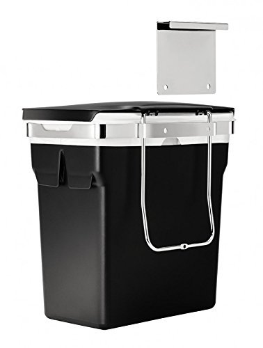 in Acciaio Nero simplehuman CW1643/Bidone per Mobile con Telaio Resistente