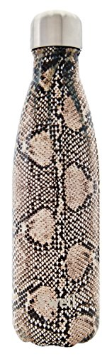 S'well Vacuum Insulated Stainless Steel Water Bottle, Double Wall, 17 oz, Sand Python