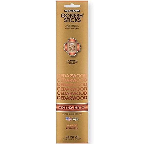 Gonesh Incense Sticks Extra Rich Collection BULK - Cedarwood 12 Packs (240 Total)