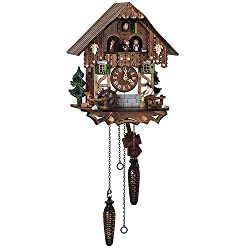 Quartz Black Forest House Cuckoo Clock w 12 Melodies