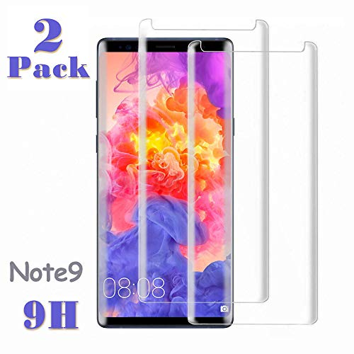 Note 9 Screen Protector, (2-Pack) Tempered Glass Screen Protector[Force Resistant Up to 11 Pounds][Easy Bubble-Free] Case Friendly 2018 Released