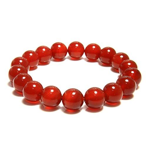 7th Element Womans Gem Semi Precious Gemstone 10mm Round Beads Stretch Bracelet 7 Unisex