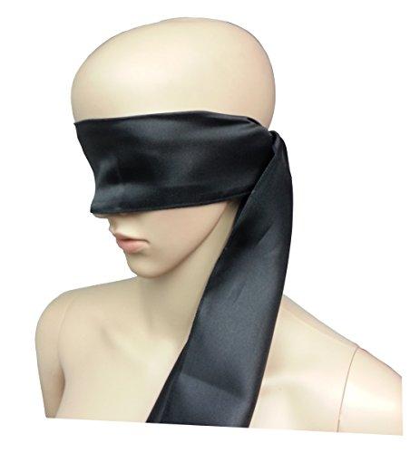 Bondage Erotik Satin Qualitäts Stoff Augenschal schwarz Augen Schal Augenbinde Augenmaske - High Quality