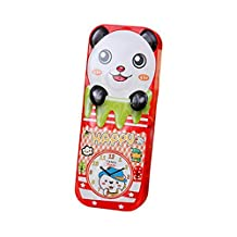 Happy Panda Multi-function Double-layer Pencil-box Pen Holder for Kids(Red)