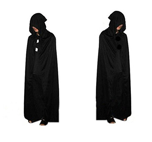 [I'MQueen Adult's Christmas Costumes Long Black Cloaks Robe Capes Cloaks for Halloween] (2 Person Halloween Costumes For Kids)
