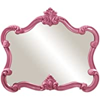 Howard Elliott 56030 Veruca Rectangular Mirror, 28 x 32-Inch, Glossy Hot Pink