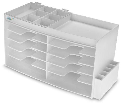 TrippNT 50966 White PVC GC Column Storage Cabinet, 16.1lbs, 24.5'' Width x 14'' Height x 10.75'' Depth by TrippNT