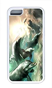 iphone 5C case,custom iphone 5C case,TPU Material,Drop Protection,Shock Absorbent,Customize your own cell phone case pattern,white case,The dolphins