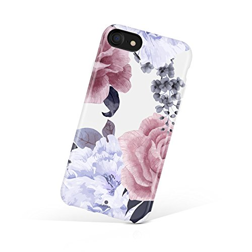 iPhone 8 & iPhone 7 case Floral, Akna Collection Flexible Silicon Cover for Both iPhone 8 & iPhone 7 [Floral Peony](798-U.S)
