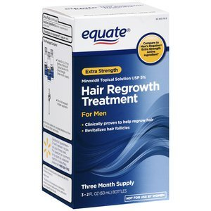 Equate - Hair Regrowth Treatment for Men with Minoxidil 5% Extra Strength, 3 Month Supply, 2 Ounce Bottle, 3 - Treatment Minoxidil