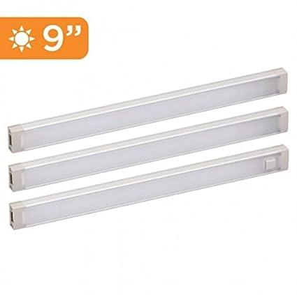 BLACK+DECKER LED Under Cabinet Lighting Kit, 3 Bars, 9 Inches Each