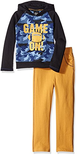Boys Rock Little Boys' Toddler 2 Pc Hoodie Set Game On, Gold, 4T