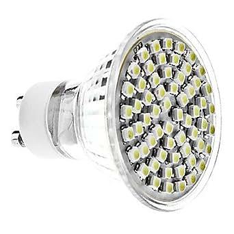 GU104W 60x 3528SMD 300–350LM 6000–6500K Natural Luz Blanca LED Spot bombilla (220–240V)