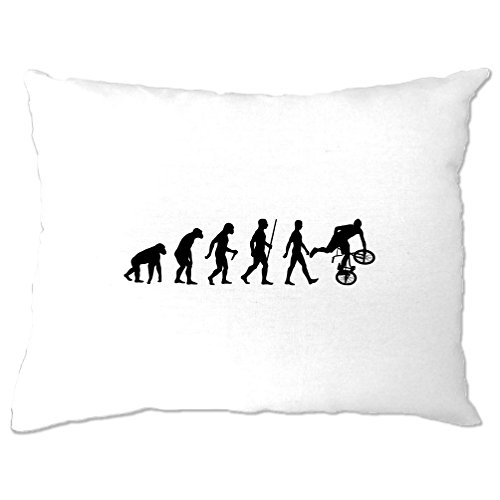 Tim And Ted Exrtreme Sports Pillow Case Evolution Of BMX Bike Dirt White One -