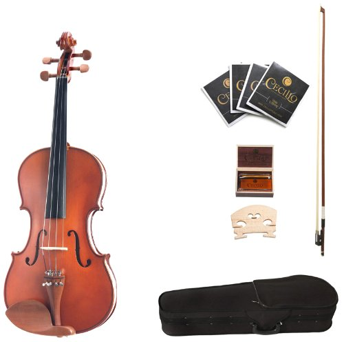 Cecilio CVA-400 13-Inch Solid Wood Flamed Viola Cecilio Musical Instruments 13