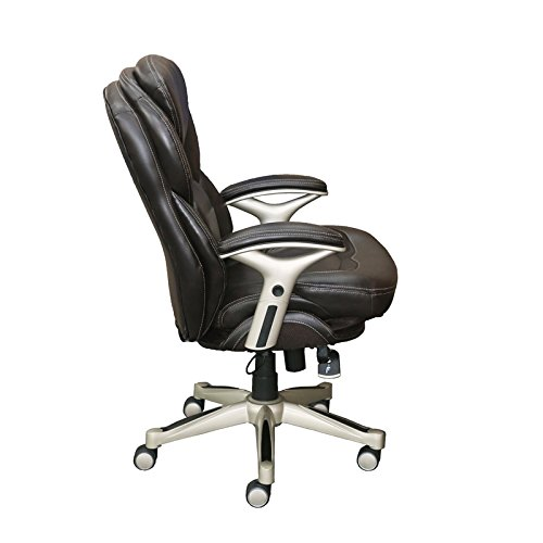 Chestnut Upholstered Chair - Serta Works Executive Office Chair with Back in Motion Technology, Old Chestnut Bonded Leather