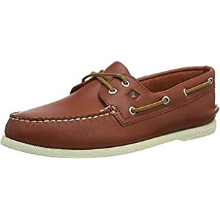 Sperry Men's A/O 2-Eye Leather Sneaker, Red, 14 Medium
