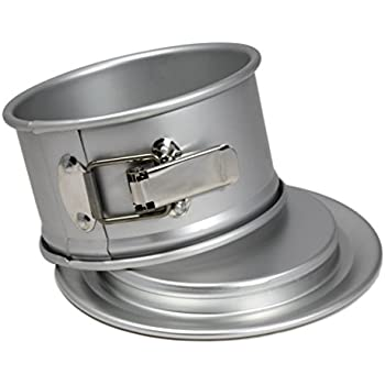 Kitchen Knack Professional Anodized Aluminum 6 Inch Round x 3 Inch Springform Cake Pan