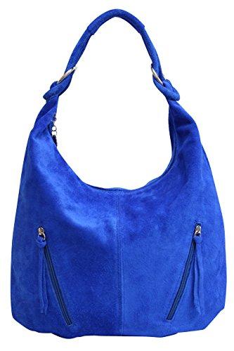 las de hombro cuero Azul grande Bolso bolsa gamuza Shopper compartimiento asas Bolso WL822 AMBRA mujeres de Bolso de de Moda de de qx0ppCwS