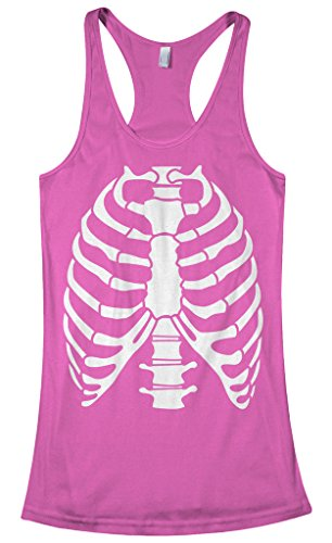 Threadrock Women's Skeleton Rib Cage Halloween Costume Racerback Tank Top XL Hot -