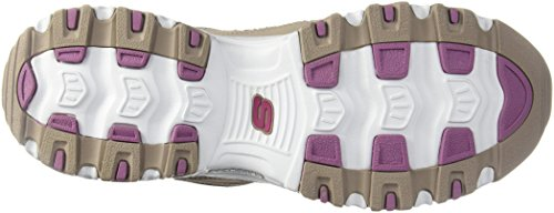Saver Basses Baskets D'lites biggest Skechers Fan Femmes Taupe Life qfF8P8w