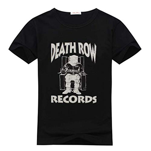 Death Row Records for Men's Short Sleeve Black T-Shirt Size L (The Very Best Of Death Row)