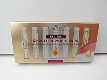 biocura Beauty revital ampollas de Semana Kur con el Extracto de la orquídea, baobaöl negras y globo Viña 7 x 3 ml...: Amazon.es: Belleza