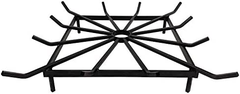 SteelFreak Square Wheel Fire Pit Grate – Made in The USA 24 x 24 Inch