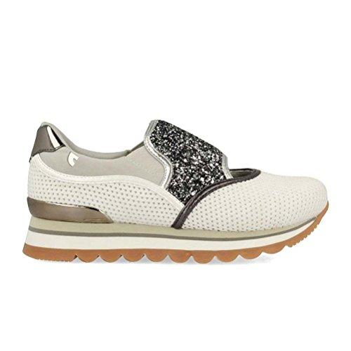 Sneakers Detalles Plateados on con Gris Gioseppo para Mujer Estilo Slip en rCx0wrHPq