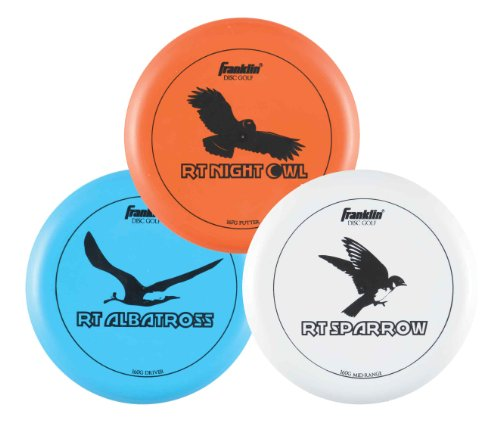 Franklin Sports Disc Golf - 3 Disc Pro Set - Frisbee All Sport