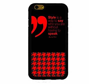 Style Red And Black Houndstooth Rachael Zoe Quote iPhone 6 Plus (5.5 Inch Screen) Rubber Case