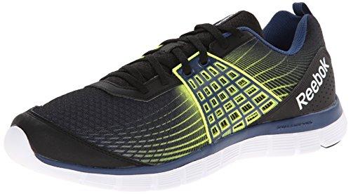 Chaussure De Course Reebok Homme Z Double Rush Noir / Batik Blue / Solar Yellow / White