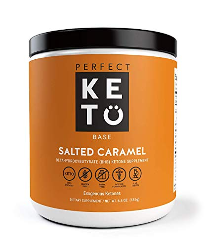 Perfect Keto Salted Caramel Exogenous Ketones: Base BHB Salts Supplement. Ketones for Ketogenic Diet Best to Support Energy, Focus and Ketosis Beta-Hydroxybutyrate BHB Salt