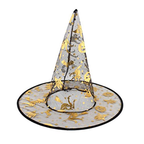 (Goddness Bar Halloween Costume Party Dress Up Witch Hat Tip Cap Cosplay Random)