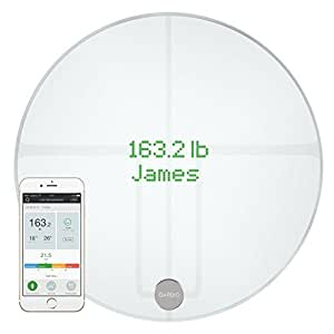 QardioBase 2 Wireless Smart Scale and Body Analyzer - Arctic White