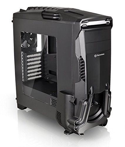 Thermaltake Versa N24 Black ATX Mid Tower Gaming Computer Case Chassis with Power Supply Cover, 120mm Rear Fan preinstalled. CA-1G1-00M1WN-00 by Thermaltake (Image #1)
