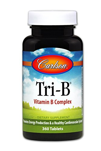 Carlson Tri-B, Folic Acid + Vitamin B-6 & B-12, 360 - B Vitamins 6 Vitamin Nutrition