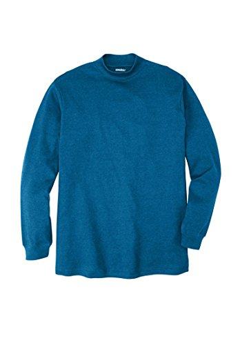 KingSize Men's Big & Tall Mock Turtleneck Long-Sleeve Cotton Tee, (Cotton Mock Neck Mens T-shirt)