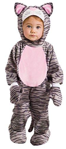 Fun World Grey Stripe Kitten Infant Costume, Small, 6-12 -