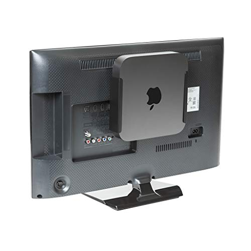 HIDEit MiniU Mac Mini Mount - Mount for Mac Mini 2018 (Black) - Wall Mount, Under Desk Mount and VESA Mount - Made in The USA and Trusted Worldwide Since 2009 - Search afterHIDEit on Social (Best Monitor For Mac Mini 2019)