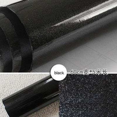 CZCCH パールホワイトDIY加飾フィルムPVCの自己接着壁紙家具の改修ステッカーキッチンキャビネット防水の壁紙 (Color : PEARL Black, Size : 60cmX4m)