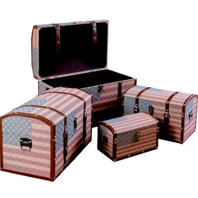 Best Selling Home Decor US Flag Storage Box - Set of 4 by Best Selling Home