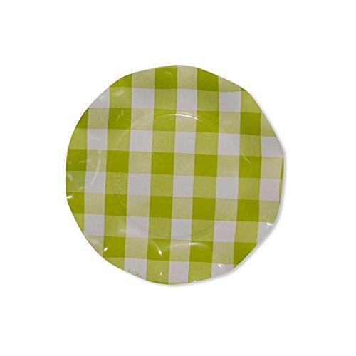 Sophistiplate 43Vtl2 Petalo Paper Salad/Dessert Plates, Lime Green (Pack of (Elegance Green Plate)